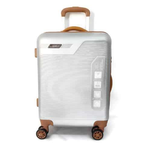 """מזוודה קשיחה """"LB1051 silver 28"""