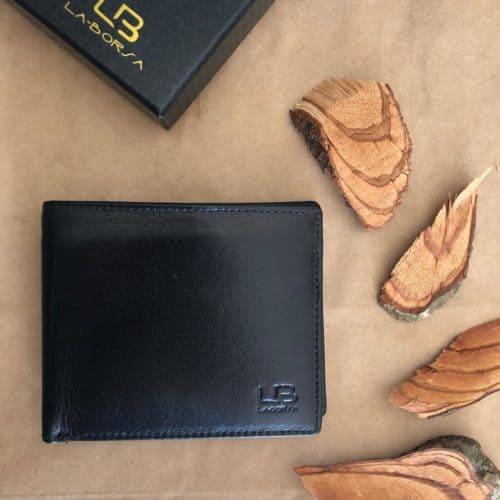 ארנק עור ברידג' שחור  LB83598