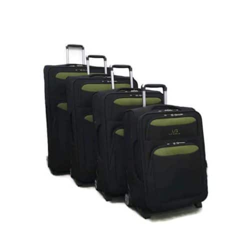 סט מזוודות רכות LB1002 green