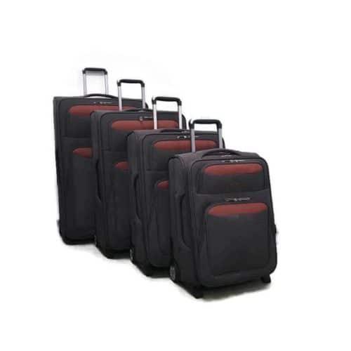 סט מזוודות רכות LB1002 grey