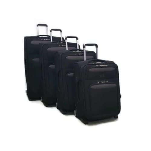 סט מזוודות רכות LB1002 black