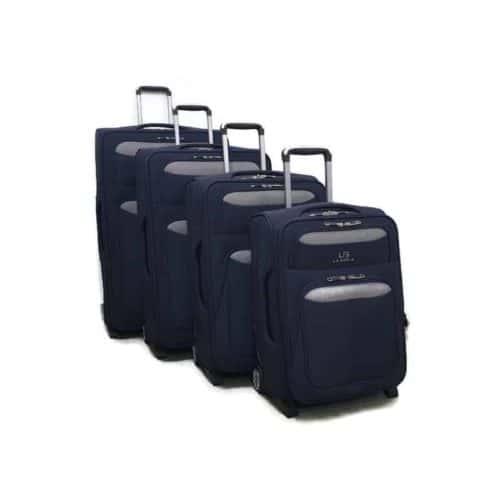 סט מזוודות רכות LB1002 blue