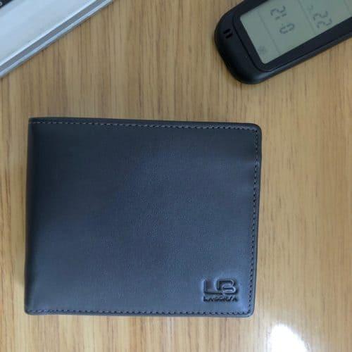 ארנק עור נאפה אפור LB99598